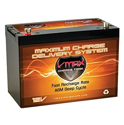 VMAXTANKS VMAX MR127 forMinn Kota, Minnkota, Cobra, Sevylor Baja Boss power boat and trolling motors group 27 marine deep cycle 12V 100ah battery