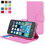 Snugg iPhone 5 / 5s Case - Leather Flip Case with Lifetime Guarantee (Candy Pink) for Apple iPhone 5 / 5s