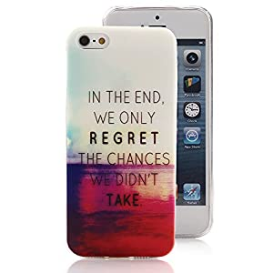 iPhone 5 5S Case, Ludan Painted Series Sunset Super Lightweight Slim Protective TPU Gel Back Case Cover for 4 inches iPhone 5 5S from Ludan