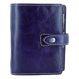 Filofax 2017 Pocket Organizer, Leather, Malden Purple, Paper Size Paper Size 4.75 x 3.25 inches (C025849-17)