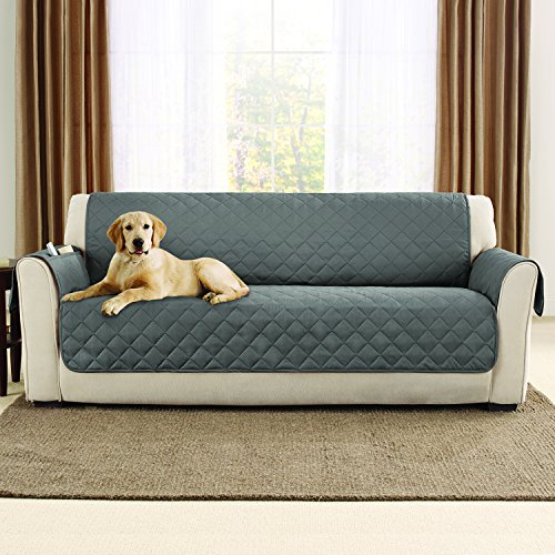 sure fit sofa microfiber pet pinsonic faux quilting cover
