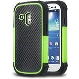 tinxi® Coque de protection en silicone pour Samsung Galaxy S3 Mini Noir/vert
