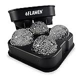 Flamen まる氷アイストレー【BPAフリーシリコン製品で簡単キレイに丸い氷を作成】直径5cm