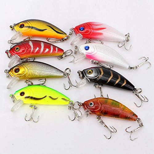 8pcs-5cm-36g-Fishing-Lures-Bass-Crank-Bait-Lure-Tackle-with-hooks