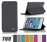 Fyy 4.7インチスクリーン iPhone 6 用ケース 軽量 超薄型 スタンド機能付き【全8色】ブラック
