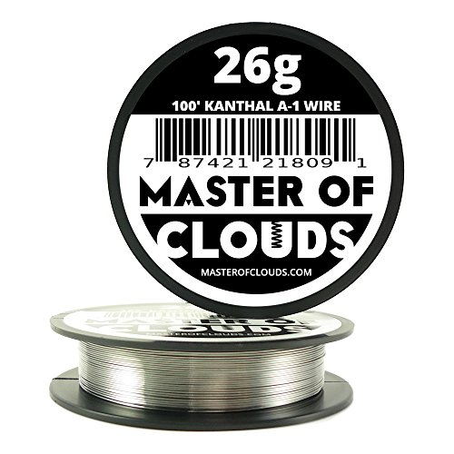 100 ft - 26 Gauge Kanthal A1 Resistance Wire AWG 100' Lengths (Master Gauge compare prices)