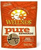 Wellness Pure Rewards Grain Free Beef Jerky Natural Dog Treats, 6-Ounce Bag
