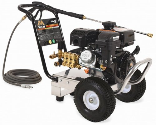Mi-T-M Cm-3000-0Mlb Cold Water Direct Drive, 212Cc Mi-T-M Ohv Gasoline Engine, 3000 Psi Pressure Washer