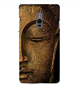 Fuson 3D Printed Lord Buddha Designer Back Case Cover for OnePlus 2 - D561