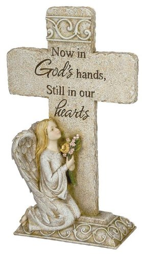 Now in God's Hands, Still in Our Hearts Memorial Cross