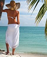 MULTI-USE WHITE SARONG