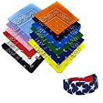 12 Assorted Cotton Bandanas Plus a *F...