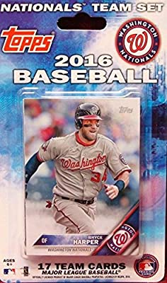 Washington Nationals 2016 Topps Factory Sealed Special Edition 17 Card Team Set with Bryce Harper and Max Scherzer Plus