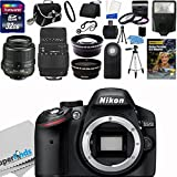 Nikon D3200 24.2 MP CMOS Digital SLR Camera (Import Model) with 18-55mm f 3.5-5.6G AF-S DX VR Lens and Sigma 70-300mm f 4-5.6 SLD DG Macro Lens with built in motor + 32GB Deluxe Accessory Kit