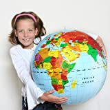 Inflatable World Globe 20""