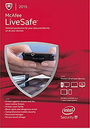 McAfee LiveSafe 1 Yr, Unlimited Devices  2015 [Online Code]