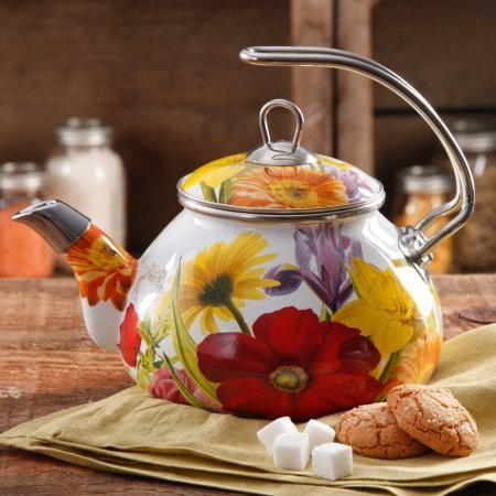 The Pioneer Woman Flower Garden 2.3 qt Tea Kettle (Flower Tea Kettle compare prices)