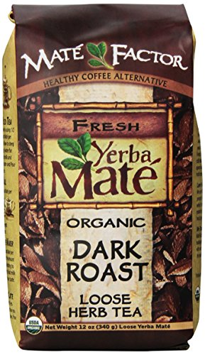 The Mate Factor Yerba Mate Energizing Mate & Grain Beverage, Dark Roast , 12 Ounce (Yerba Mate Tea Dark Roast compare prices)