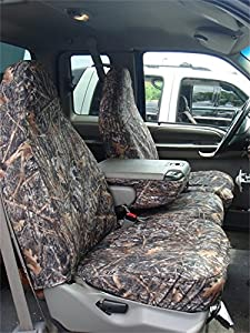 Covercraft SeatSaver Second Row Custom Fit Seat Cover for Select Ford F-150 Models - Polycotton (Misty Grey)