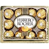 FERRERO ROCHER ITALIAN CHOCOLATE HAZELNUT CANDY 12 PC BOX (Tamaño: 12 pc)
