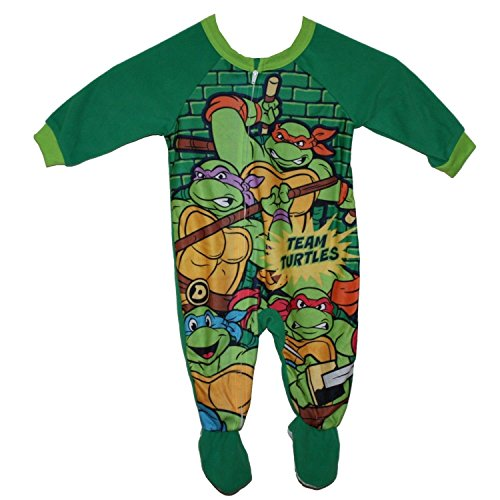 "Tmnt Turtles ""Team Turtle"" Baby Toddler Footed Pajamas Blanket Sleeper 5T back-1080664"