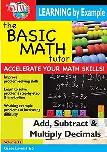Basic Math Tutor: Add, Subtract, & Multiply Decimals