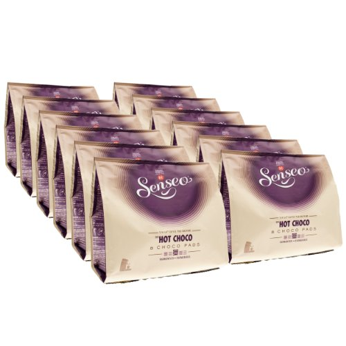 Senseo Kakaopads Hot Choco, heiße Schokolade, neues Design, 12er Pack, 12 x 8 Kakao Pads