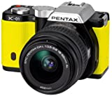 Pentax K-01 Compact System Camera with 18-55mm Lens Kit - Yellow
