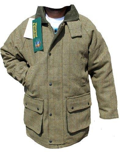 DERBY TWEED BREATHABLE HUNTING SHOOTING JACKET COAT WATERPROOF BRANDED MENS WOOL (XL)