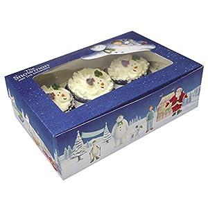 PRE-ORDER - The Snowman & Snowdog Cupcake Treat box - pk2
