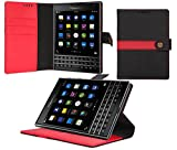 BlackBerry Passport Case, AceAbove Blackberry Passport wallet case [Black] - Premium PU Leather Wallet Cover with [Card Slots] and [Stand] Function for BlackBerry Passport Late 2014 Model (Black)