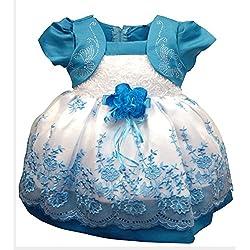 YipGrace Bambini Fiore Carino Ricamo Principessa Vestito Blu scuro 20