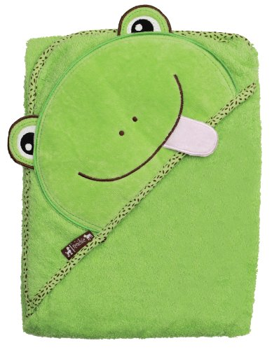 Frog Velour Hooded Towel - Green 155 By Frenchie Mini Couture