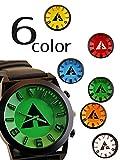 おしゃれ 腕時計 メンズ カラフル 青 白 緑 橙 黄 赤 (ホワイト)