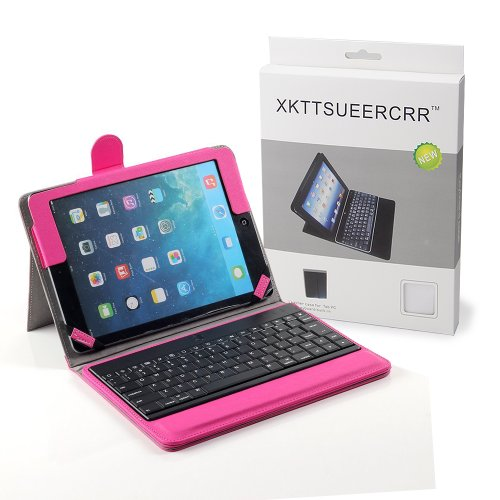 Xkttsueercrr Rose Protective Case With Removable Detachable Wireless Bluetooth Keyboard Abs Plastic Keys For Apple Ipad 5 Ipad Air + Xtek Mousepad