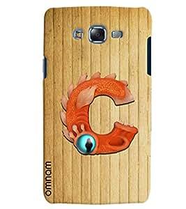 Omnam Single Name Stylish Alphabet C Printed Designer Back Cover Case For Samsung Galaxy J7