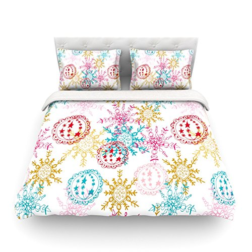 Kess InHouse Anneline Sophia Let It Snow Multicolor Cotton Duvet Cover, 88 by 104-Inch уровень stabila тип 80аm 200 см 16070