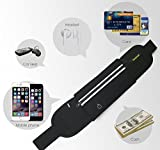 AIKELIDA® Running Belt / Runner Waist Pack / Running Gear Bag / Runners Belt for iPhone , Samsung Galaxy - for Men, Women during Workouts, Fitness, Cycling, Hiking, Walking, Running