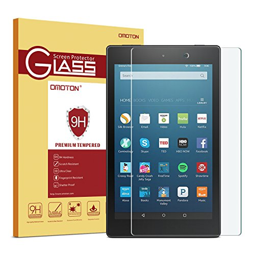 OMOTON All-New Fire HD 8 (2016 Release) Screen Protector, [9H Hardness] [Crystal Clear] [Bubble Free] Tempered Glass Screen Protector for Fire HD 8 Tablet (6th Gen 2016 5th Gen 2015) (Screen Savers Apps compare prices)