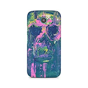 Mobicture Skull Abstract Premium Printed Case For Moto G2