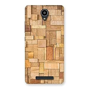 Ajay Enterprises Wood Blocks Pattern Back Case Cover for Redmi Note 2