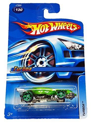 #2006-130 Turboa Green Collectible Collector Car Mattel Hot Wheels 1:64 Scale - 1