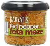 Karyatis Roasted Red Pepper and Feta Meze 100 g (Pack of 5 Jars)