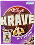 Kellogg's Milk Chocolate Krave Cereal 375 g (Pack of 3)