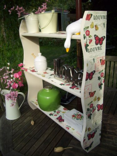 Vintage French Cream Butterfly Kitchen, Bedroom, Bathroom, Shelves, Bookcase, Furniture