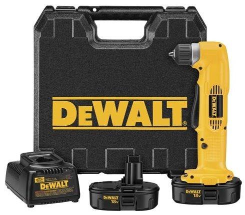Black & Decker/Dewalt 18V Right Angle Drill Dw960k-2 Cordless Drill