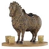 Design Toscano QL11001 Emperor Xuanzong's Fat Horse Asian Statue, Terra Cotta