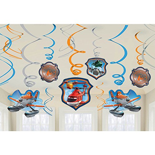Disney Planes Dusty & Friends Foil Swirl Hanging Decorations