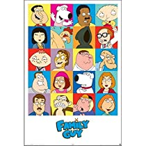 Family Guy Cast TV Poster Print