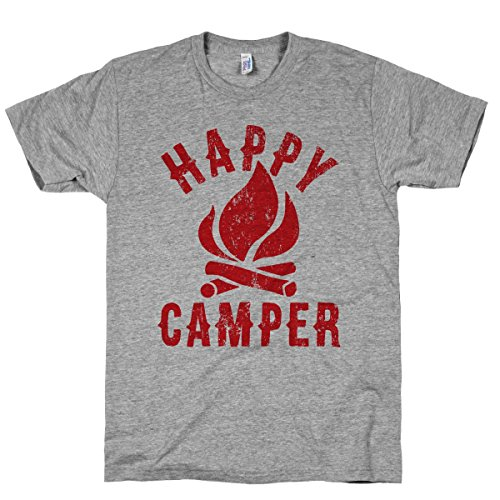 HUMAN Happy Camper Athletic Grey XL T-Shirt